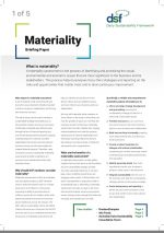 Materiality briefing paper